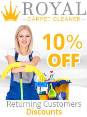 Royal Carpet Cleaner 10% Off for returning customers
